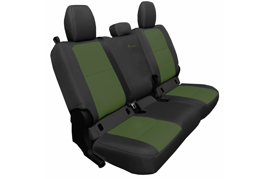 Bartact Tactical Series Rear Seat Covers - Black/Olive, No Armrest - JT