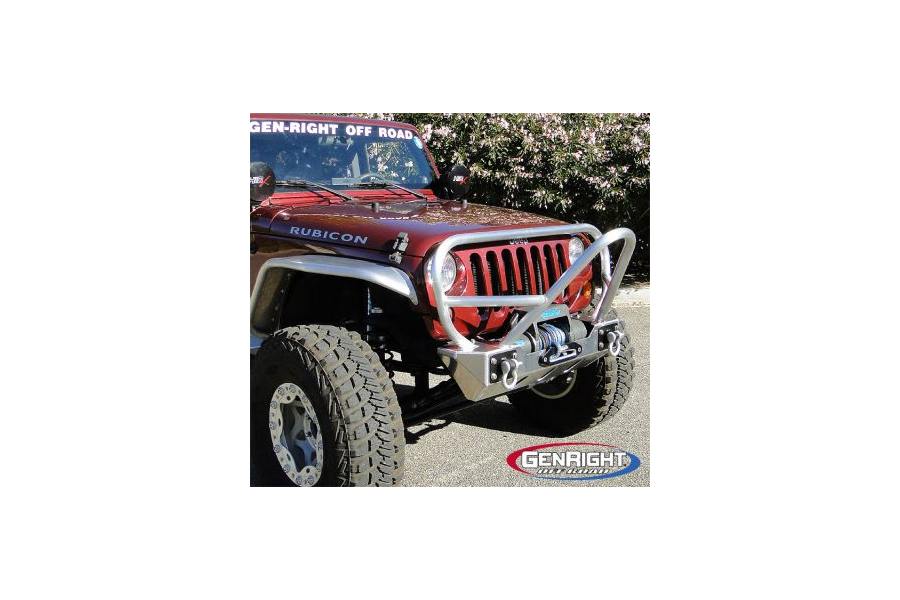 Genright Stubby Steel Front Bumper w/Boulder Stinger ( Part Number: FBB-8100)