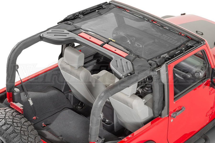 Dirty Dog 4x4 Front Seat Sun Screen Black (Part Number:J4SS07F1BK)
