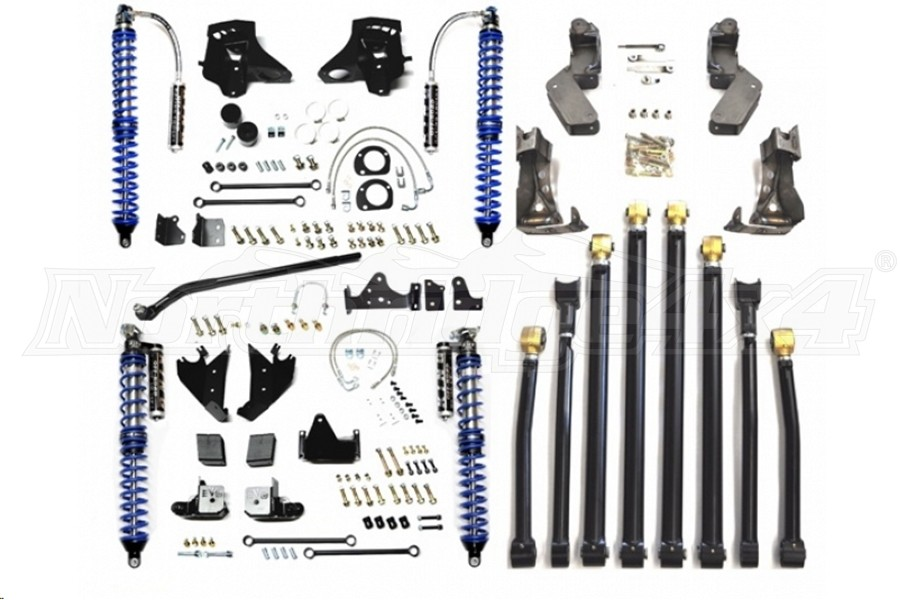EVO Manufacturing High Clearance Pro Suspension Coilover Kit, Black  (Part Number:202B)