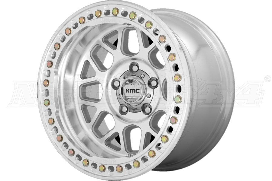 KMC Wheels KM235 Grenade Crawl Series Beadlock Wheel, 17x9 5x5 - Machined - JT/JL/JK