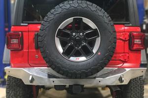 Artec Industries NightHawk Rear Bumper, Bare Steel - JL