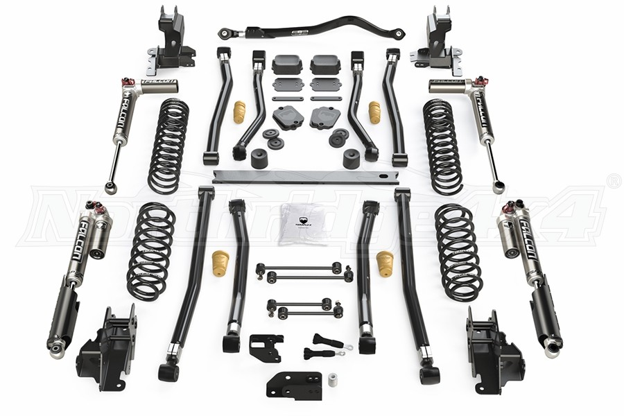 Teraflex Alpine CT3 3.5in Long Arm Suspension System w/Falcon SP2 3.3 Shocks - JL 4dr