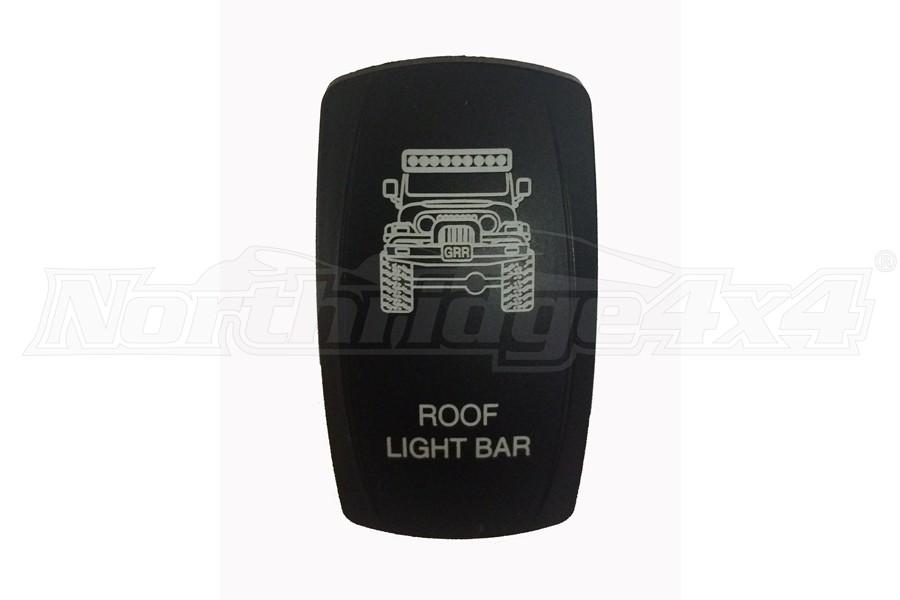 sPOD TJ Roof Light Bar Rocker Switch Cover