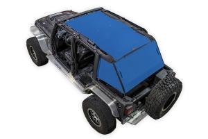 SpiderWebShade 2-Piece ShadeCage System - Blue - JK 4Dr
