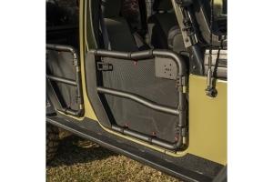 Rugged Ridge Full Fortis Tube Door Cover Set - Black  - JK 4Dr