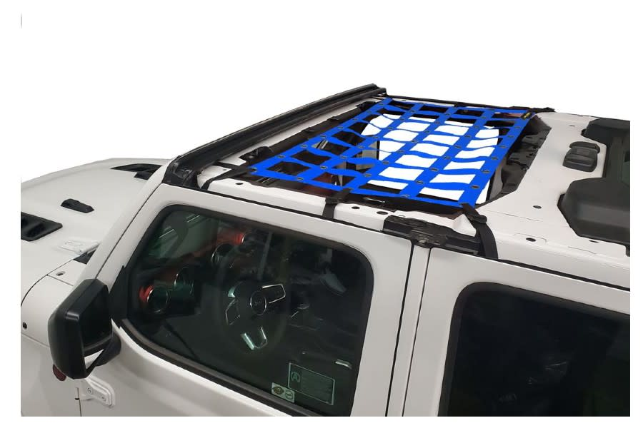 Dirty Dog 4x4 Front Seat Netting-Blue - JT