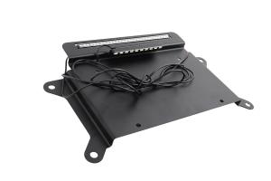 Kentrol BackSide License Plate Mount w/ LEDs - Textured Black  - JK 2010+