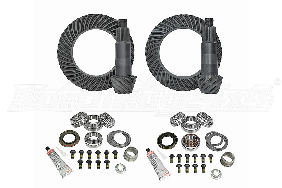 Yukon Complete D44 Front and Rear Ring and Pinion Kit - 4.56  - JT/JL Rubicon