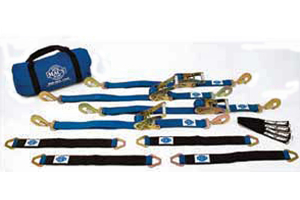 Mac's Ultra Pack with Blue 2in. x 8ft. Direct Hook Ratchet Straps and 24in. Black Axle Straps (Part Number: )