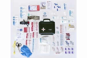 Outer Limit Supply Waterproof Individual First Aid Kit - Red
