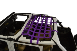 Dirty Dog 4x4 Rear Seat Netting, Purple - JL 4Dr