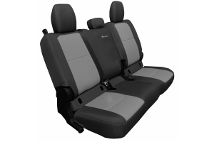 Bartact Tactical Series Rear Seat Covers - Black/Graphite, Non-Folding Armrest - JT