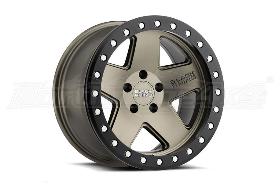 Black Rhino Crawler Beadlock Wheel 17x8.5 5x5 Matte Bronze W/Black Lip (Part Number:1785CRL-25127Z71)