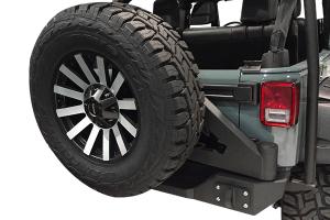 Iron Cross Full Width Rear Bumper w/Swing Away Tire Carrier - JK
