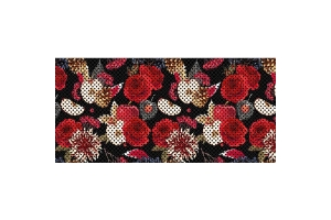Under The Sun Inserts Red Roses And Apples Grill Insert - JL