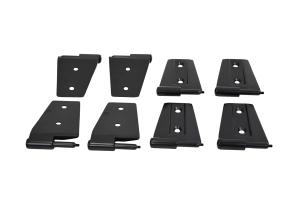 Kentrol 8-Pieces Door Hinge Set - Textured Black  - JK 4Dr