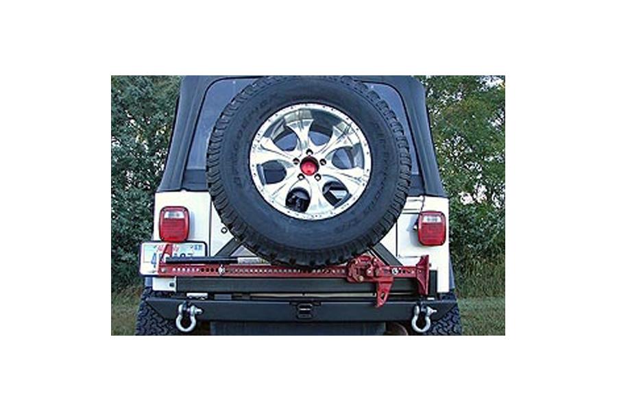 Rock Hard 4x4 Patriot Series Rear Bumper w/Tire Carrier Black (Part Number:RH-2001-C)