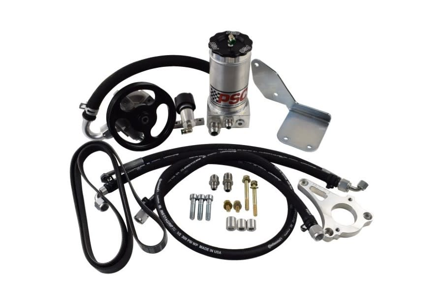 PSC Power Steering Pump and Remote Reservoir Kit with LS3 Crate Engine Conversion  - JK
