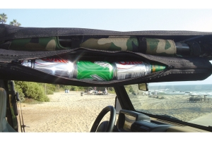 Vertically Driven Products Can Tube Cooler and Storage Pouch w/Velcro Straps Black