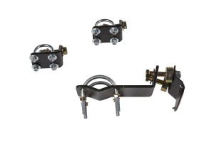 Rubicon Express Dual Monotube Steering Stabilizer Bracket Kit  - JK