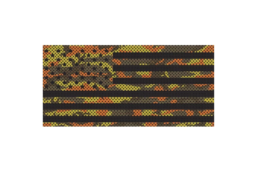 Under The Sun Inserts Fall Colors Camo Stars And Stripes Grill Insert (Part Number:INSRT-CAMOFALL-JL)