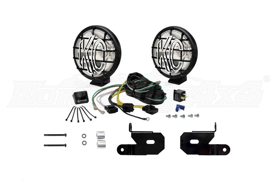 KC HiLites A-Pillar/Windshield Light Mount Kit w/6in Apollo Pro Lights - JL