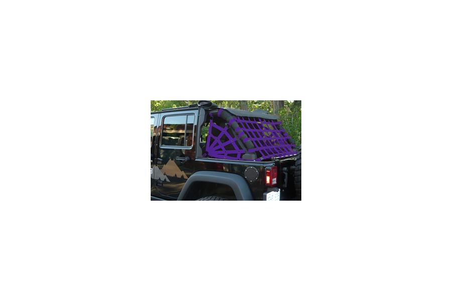 Dirty Dog 4x4 Rear 3 Piece Spider Netting Purple - JK 4dr