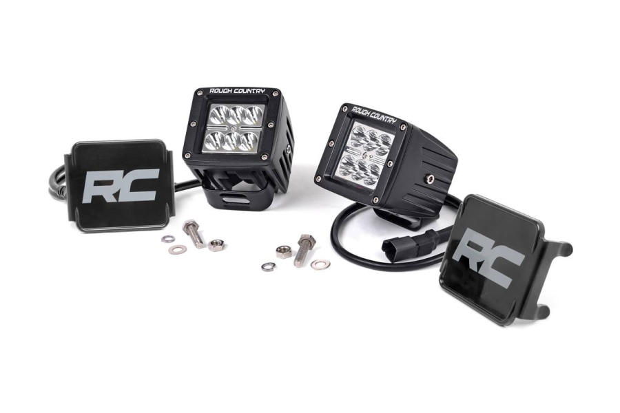 Rough Country 2in Chrome Series Square Lights (Part Number:70903)