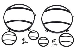 Kentrol 6-Pieces Headlight and Marker Cover Set - Textured Black  - JK