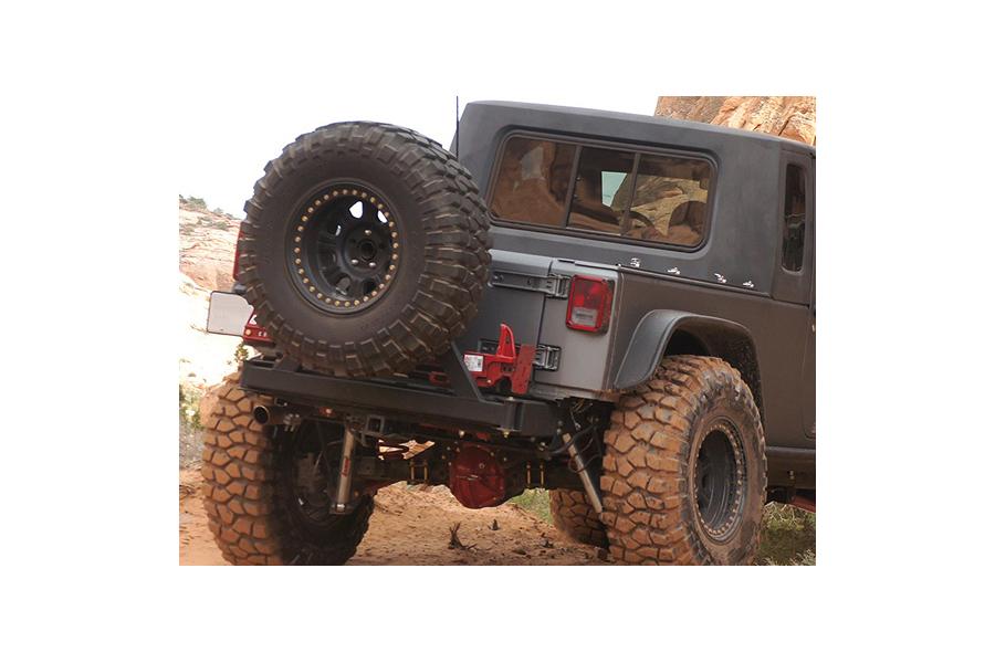 Rancho Performance RockGear Rear Bumper w/Tire Carrier (Part Number:RS6221B)