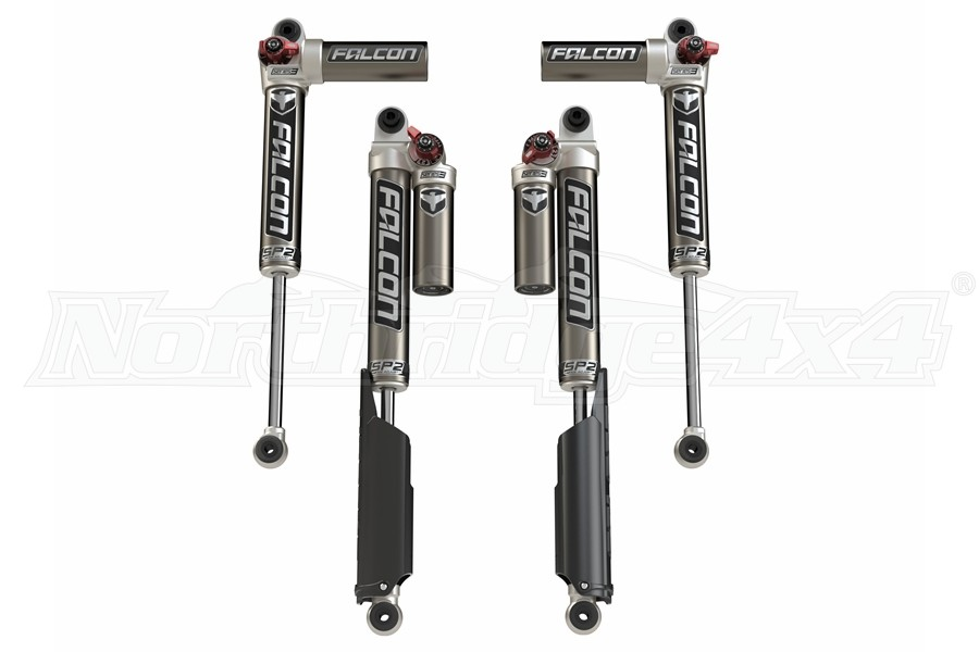 Teraflex Falcon SP2 3.3 Fast Adjust Piggyback Shocks - 0-1.5in Lift - JL 4dr