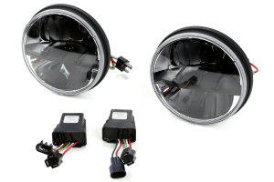 Rigid Industries Truck-Lite Series Round Headlights w/PWM Adaptors 7in ( Part Number: 55000)