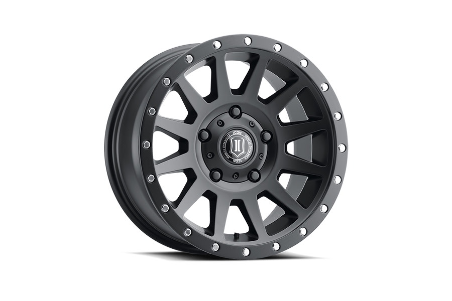 Icon Vehicle Dynamics Compression Satin Black Wheel - JT/JL/JK