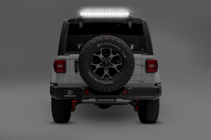 Jeep Rear Accessory Light Mounts|Northridge4x4 | White Jeep Sahara Lifted With Tire Carrier And Led Tail Lights |  | Northridge4x4