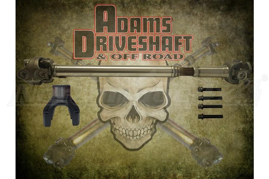 Adams Driveshaft Extreme Duty Series 1350 Half Round Front CV Driveshaft   - JL Rubicon Only