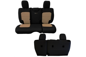 BARTACT Seat Cover Rear Black/Khaki (Part Number: )