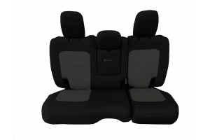 Bartact Tactical Rear Seat Cover w/Fold Down Armrest Black/Graphite (Part Number: )