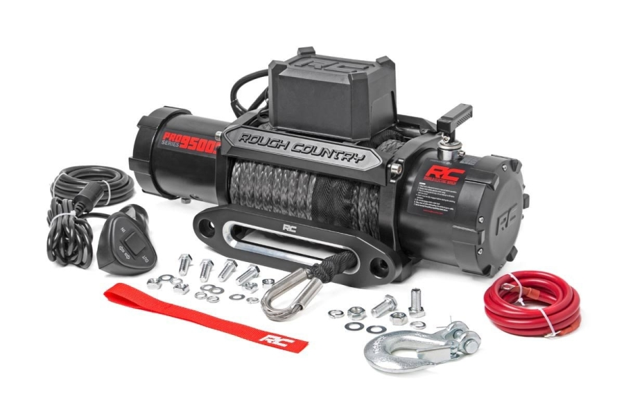 Rough Country 9500lbs PRO Series Winch w/ Synthetic Rope (Part Number:PRO9500S)