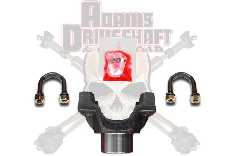 Adams Driveshaft 1350 Series U-Bolt Style Forged Rear Pinion Yoke    - JK D44