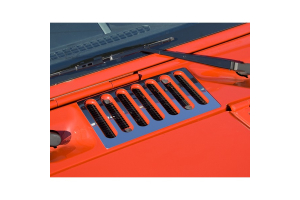 Rugged Ridge Cowl Vent Cover Stainless Steel  (Part Number: )