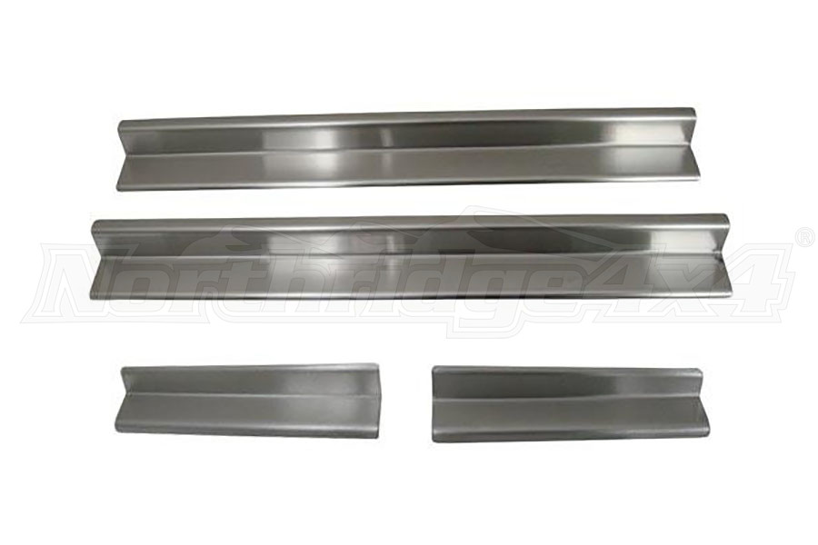 Smittybilt Front Entry Guards Stainless Steel (Part Number:7488)