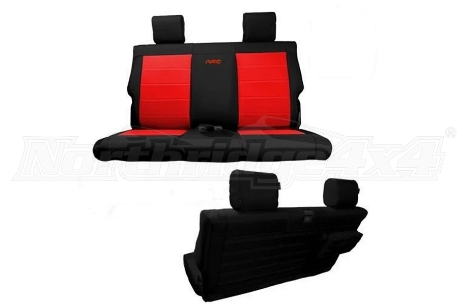 Bartact Tactical Series Rear Bench Seat Cover - Black/Black - JL 2Dr