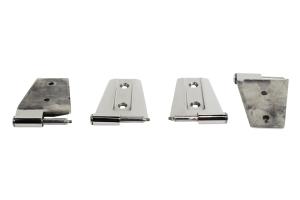 Kentrol 4-Pieces Door Hinge Set - Polished Silver  - JK 2Dr