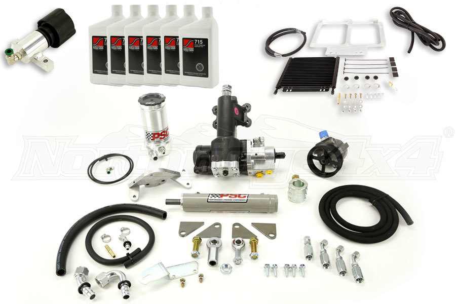 PSC Steering Kit With Cooler & Fluid Package - JK 4dr 2012+