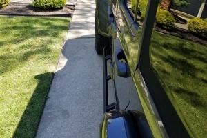 Rock Hard 4x4 Patriot Series Tube Slider Rocker Guards - Angled Down - JT