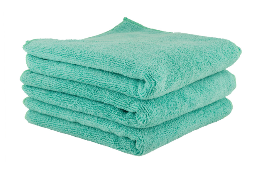 Chemical Guys Workhorse Professional Grade Microfiber Towels Green - 3 Pack