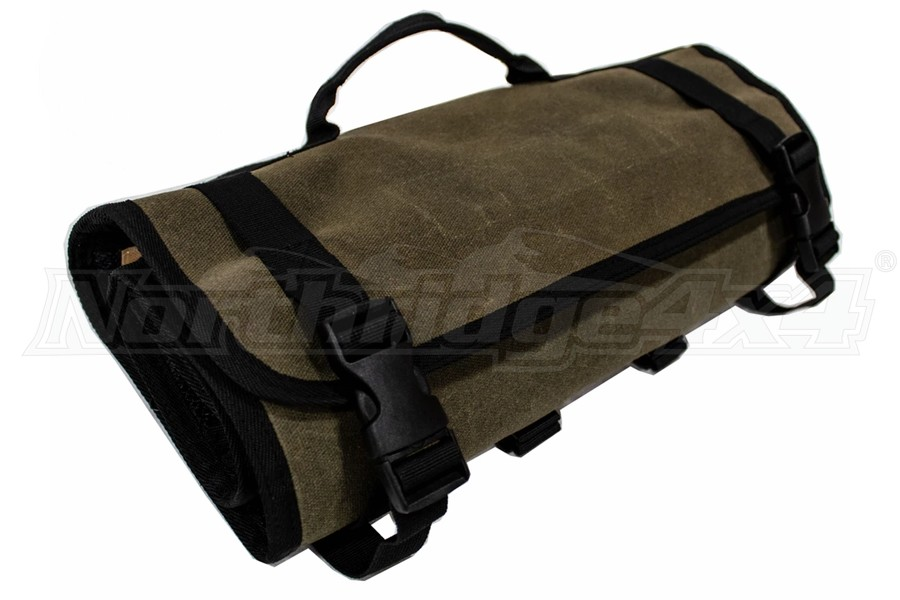 Overland Vehicle Systems Rolled First Aid Bag #16, Waxed Canvas