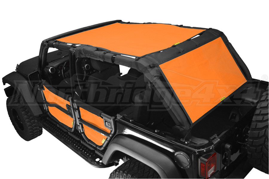 Dirty Dog 4x4 Sun Screen 1 Piece Front and Back Orange (Part Number:J4SS07S1OR)