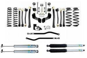 EVO Manufacturing 4.5in Enforcer Overland PLUS Stage 4 Lift Kit w/ Bilstein Shocks - JL 4Dr Diesel